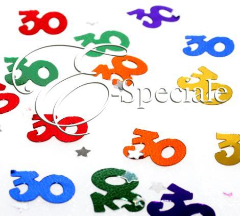 Coriandoli numero 30 shop per colore multi colore - Colore per numero stampabili ...