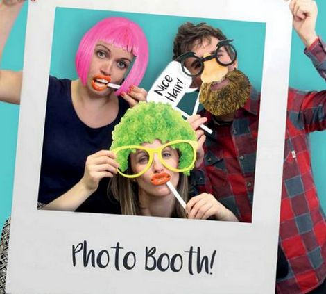 Cornice Photobooth Polaroid con Accessori Photo Booth e Accessori