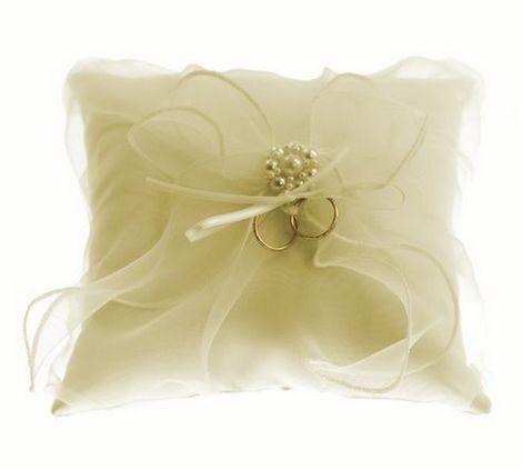 Cuscino portafedi con fiocco organza prodotti per for Addobbi porta autunno