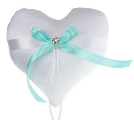 Cuscino Portafedi A Cuore.Cuscino Portafedi Cuore Tiffany Prodotti Per Addobbi Cerimonia