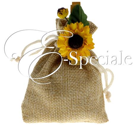 Matrimonio Tema Juta : Sacchettino juta prodotti tema eco shop per tema accessori e