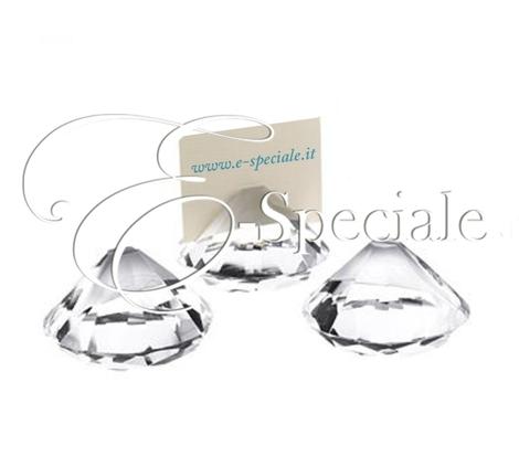 Segnaposto Matrimonio In Vetro.Segnaposti A Forma Di Diamante In Vetro Prodotti Per Addobbi Per