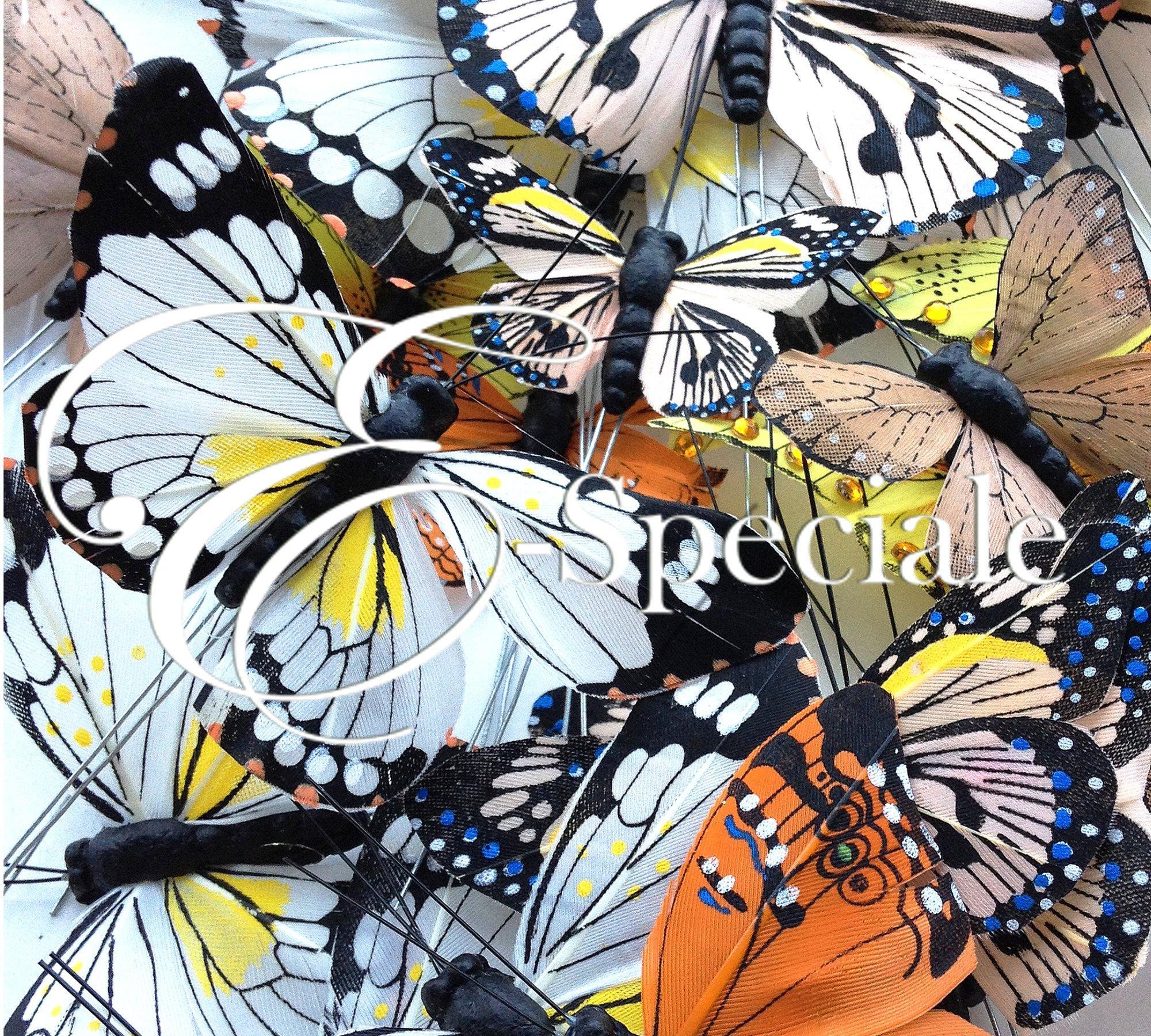 Farfalle decorative 24pz prodotti per addobbi for Farfalle decorative per muri