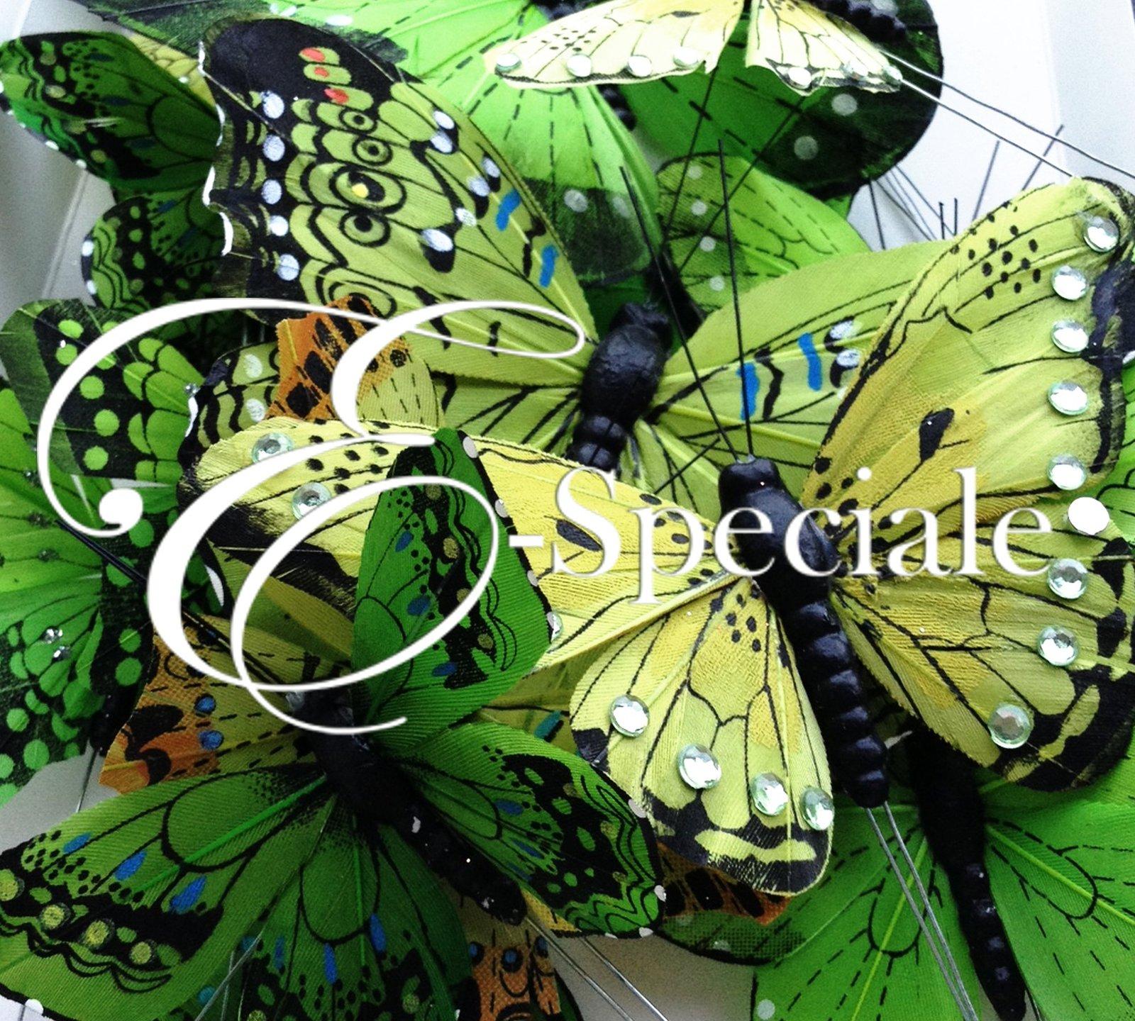 Farfalle decorative 24pz shop per colore verde for Farfalle decorative per muri
