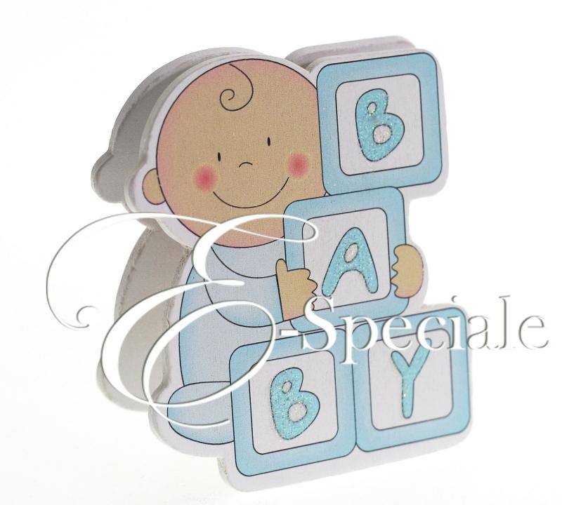 Molletta portafoto in legno baby prodotti per bomboniere - Portafoto con molletta ...