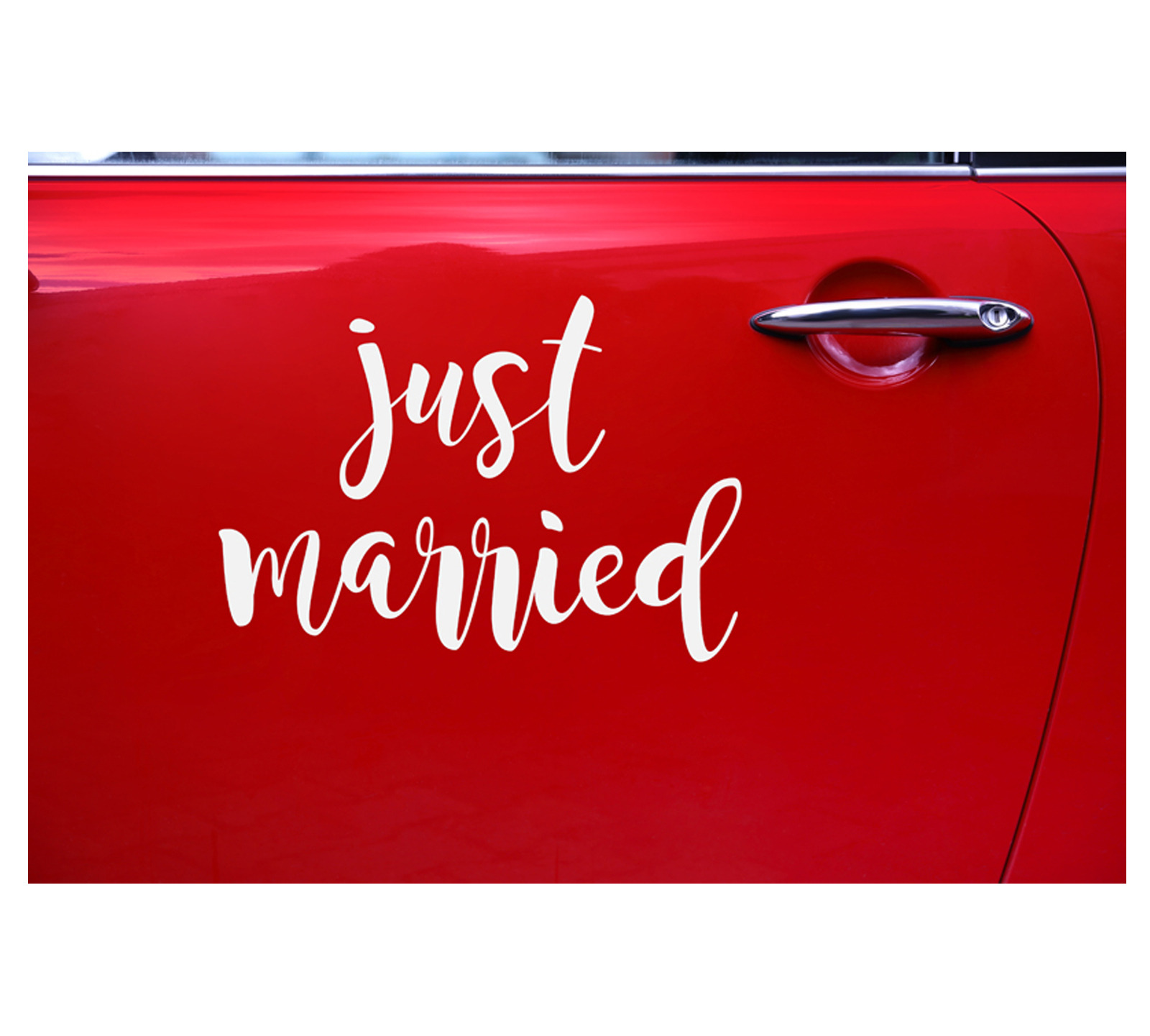 "Adesivo per Auto ""Just Married"""