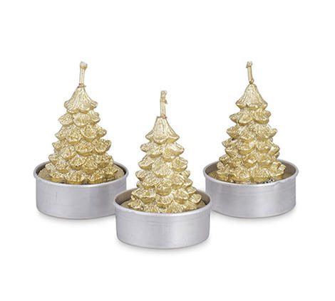 Set 6 T-Light Albero Oro